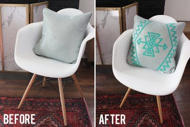 Before and After Kilim Pillow