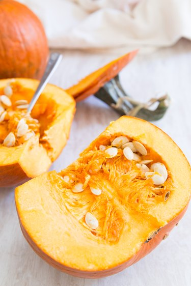 Sugar pumpkin for roasting pumpkin seeds