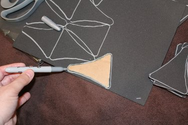 Cutting out the finials.