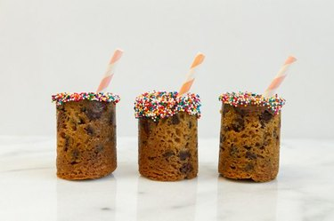 cookie shot glasses with sprinkles and straws