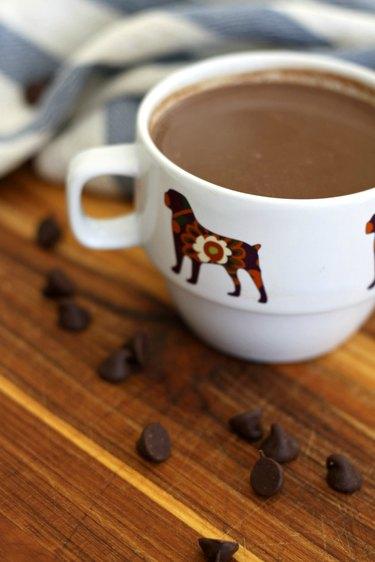 chocolate chip hot chocolate