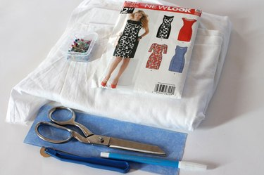 Materials needed to create a muslin.