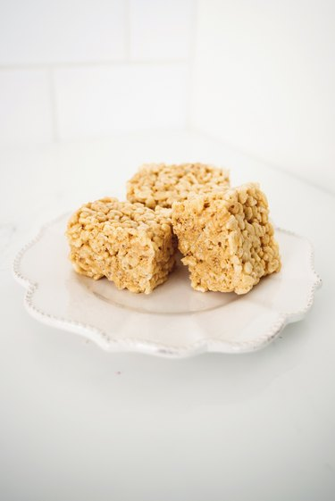 Serve and enjoy your delicious Soft and Chewy Rice Krispy Treats!