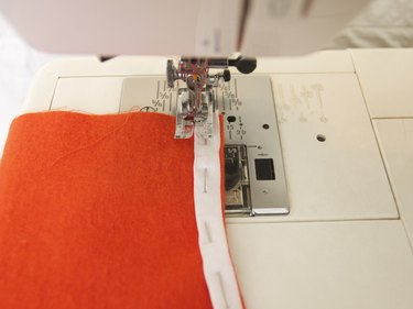Sew the bias tape in place.
