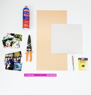 Supplies needed to make metal Polaroids