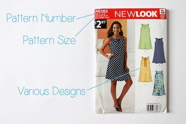 Front of a dress pattern.