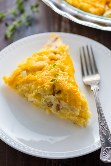 Cheese potato pie ready to be served!