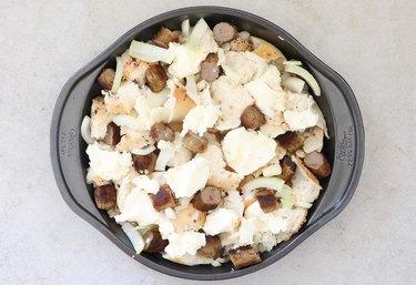 Combine ingredients in a baking pan