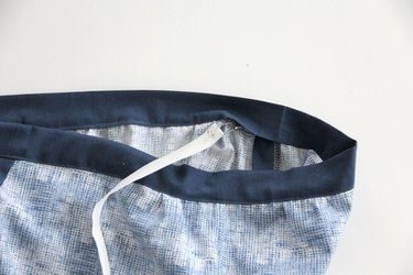 insert elastic into waistband