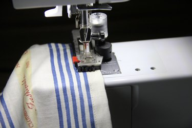 Sew buttonhole on side seam