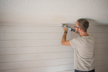 Add paintable caulk to the top of your board to create a seamless look.