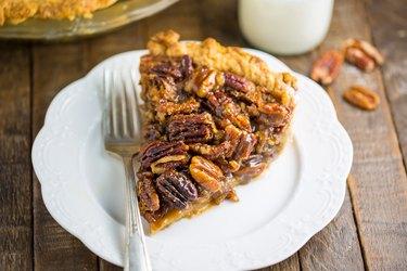 Classic homemade pecan pie.