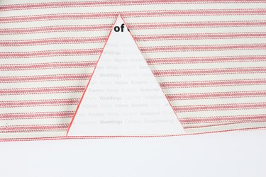 Triangle template.