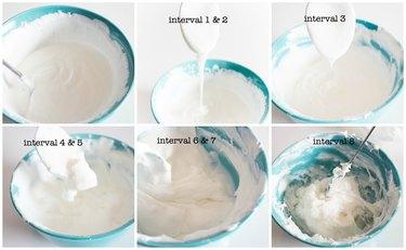 Intervals of heated mixture