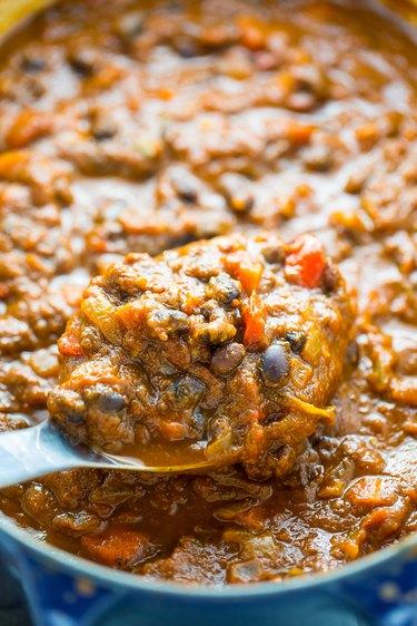 Black bean and pumpkin chili.