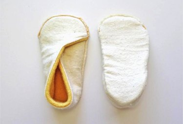 Slippers inside-out