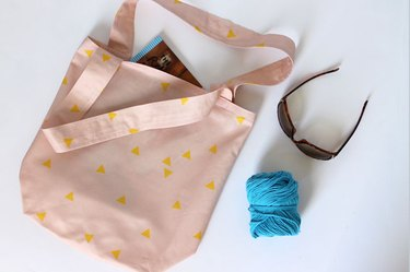 finished canvas tote bag