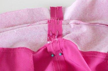 pin and sew waistband seams