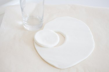 Round cut out of fondant