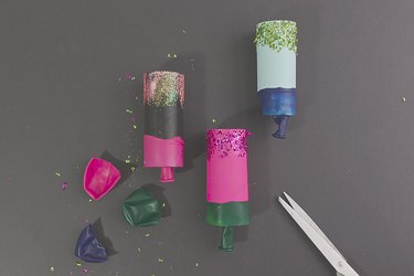 attach the balloon to create the party popper