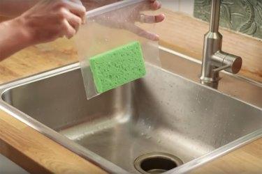 Easy sponge ice pack hack