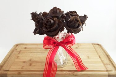 Strawberry Tootsie Roll roses
