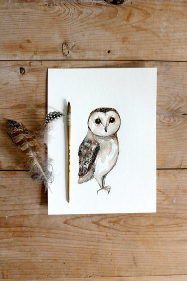 Watercolor Owl Painting