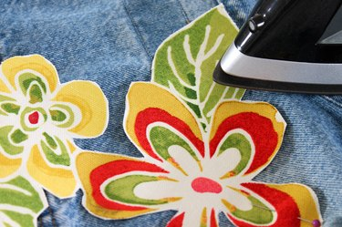 adhere floral print with hot iron