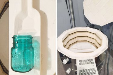 Supplies needed to make a glass bottle spoon rest