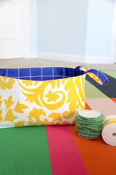 Make this fabric storage basket