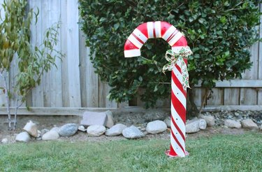 PVC pipe candy cane.