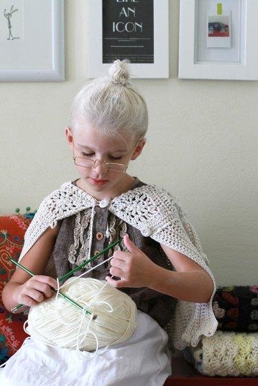 Girl in Granny Costume