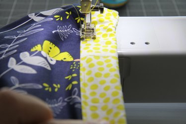 Sew the waistband opening closed