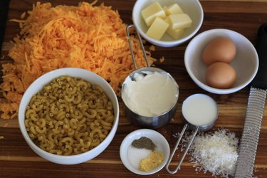 ingredients for mac & cheese