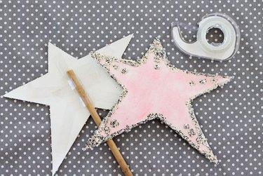 glue and glitter wand stars