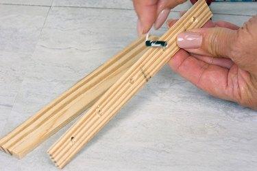 applying wood glue