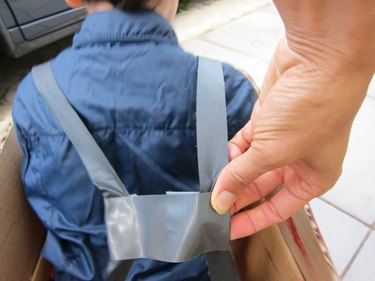 Add straps to inside box