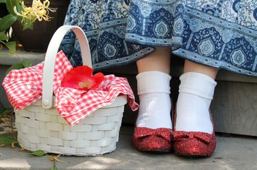 finished ruby slippers
