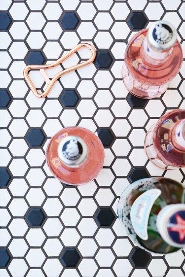 hexagon tile top