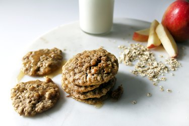 How to Make Yummy Spiced Apple Oatmeal Cookies With Brown Butter Icing