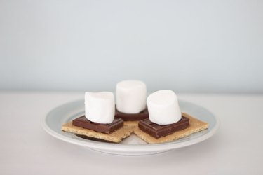 Microwavable s'mores