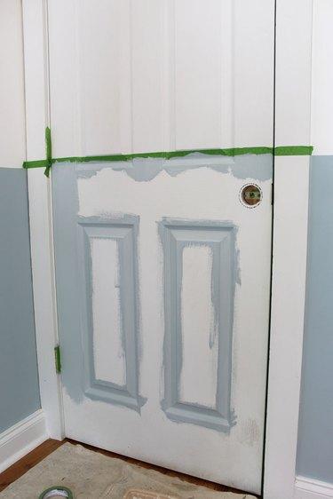 Paint the edges of the interior door.
