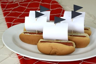 pirate ship hot dogs