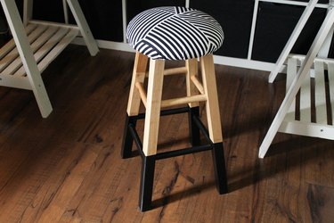 Personalize an old wooden stool.