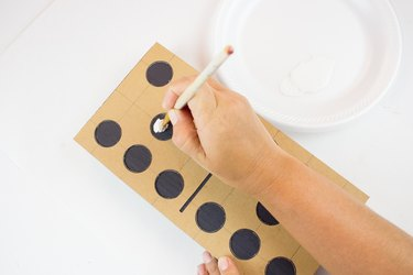 Use template to paint dots