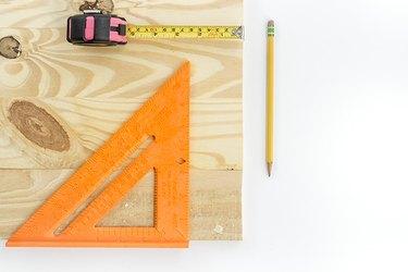 orange triangle measuring tool