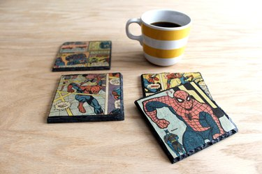 DIY decoupage slate coasters for Fathers Day!