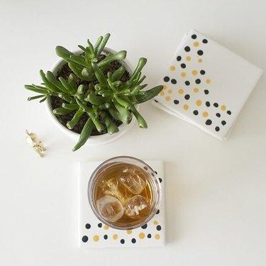 5. ceramic tile coasters