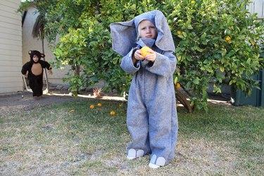 Child in elephant costume