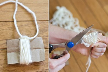 Create the top and cut the bottom of the tassel.